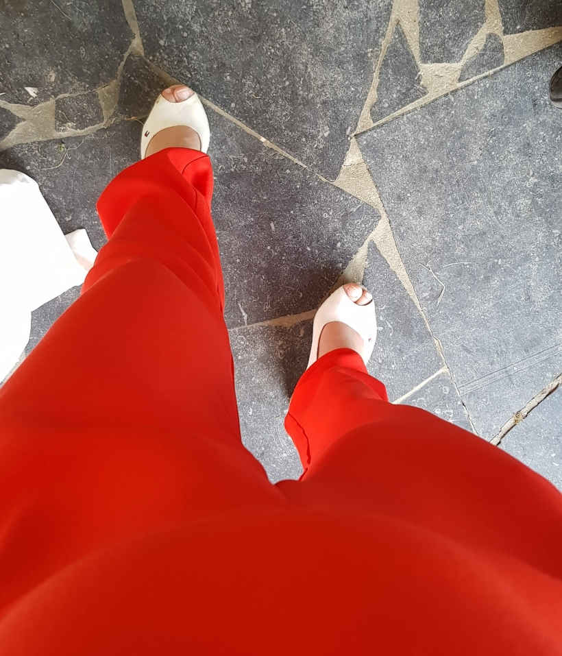 lificationbyjo coral jumpsuit wedding